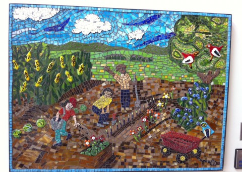 photo of 3 panel mosaic showing kids' activities like sports and gardening